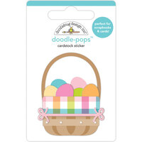 Doodlebug Design - Hippity Hoppity Collection - Doodle-Pops - 3 Dimensional Stickers - Easter Basket