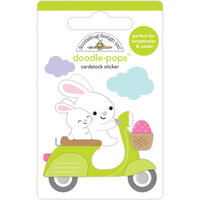 Doodlebug Design - Hippity Hoppity Collection - Doodle-Pops - 3 Dimensional Stickers - Hop On