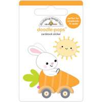 Doodlebug Design - Hippity Hoppity Collection - Doodle-Pops - 3 Dimensional Stickers - Bunny I'm Home