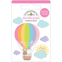 Doodlebug Design - Hippity Hoppity Collection - Doodle-Pops - 3 Dimensional Stickers - Hop Hop And Away