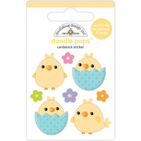 Doodlebug Design - Hippity Hoppity Collection - Doodle-Pops - 3 Dimensional Stickers - Beak-A-Boo