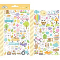 Doodlebug Design - Hippity Hoppity Collection - Mini Icon Stickers - Hippity Hoppity