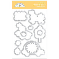 Doodlebug Design - Hippity Hoppity Collection - Doodle Cuts - Dies - Hippity Hoppity