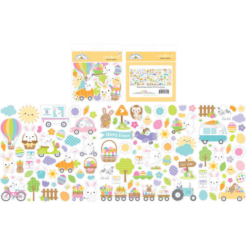 Doodlebug Design - Hippity Hoppity Collection - Odds and Ends - Die Cut Cardstock Pieces