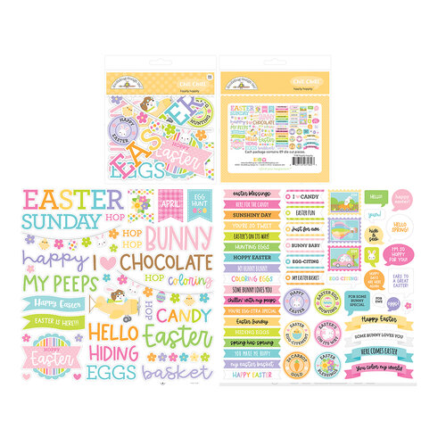 Doodlebug Design - Hippity Hoppity Collection - Chit Chat - Die Cut Cardstock Pieces