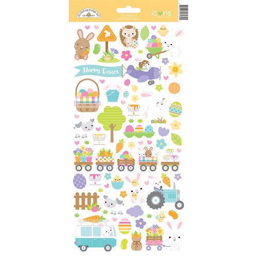 Doodlebug Design - Hippity Hoppity Collection - Cardstock Stickers - Icons