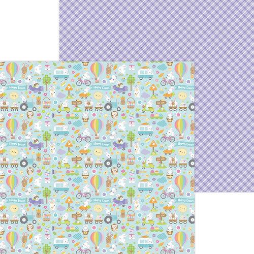 Doodlebug Design - Hippity Hoppity Collection - 12 x 12 Double Sided Paper - Hippity Hoppity