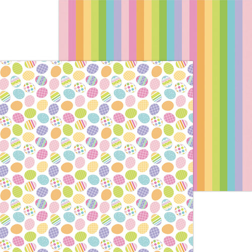 Doodlebug Design - Hippity Hoppity Collection - 12 x 12 Double Sided Paper - Hunting Eggs