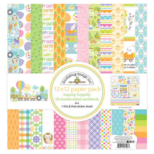 Doodlebug Design - Hippity Hoppity Collection - 12 x 12 Paper Pack