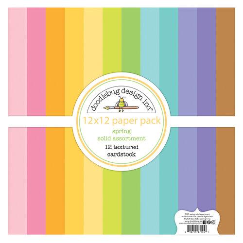 Doodlebug Design - Hippity Hoppity Collection - 12 x 12 Textured Cardstock Assortment Pack