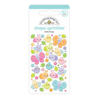 Doodlebug Design - Fairy Garden Collection - Sprinkles - Birds And Bugs Shape