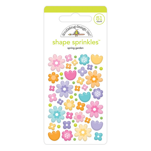Doodlebug Design - Fairy Garden Collection - Sprinkles - Spring Garden Shape