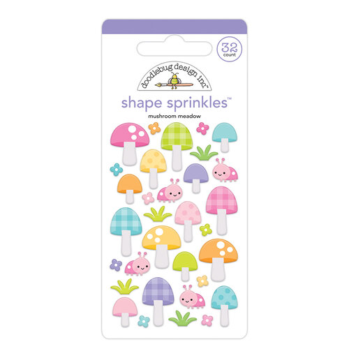 Doodlebug Design - Fairy Garden Collection - Sprinkles - Mushroom Meadow Shape