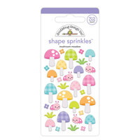 Doodlebug Design - Fairy Garden Collection - Sprinkles - Mushroom Meadow Shape