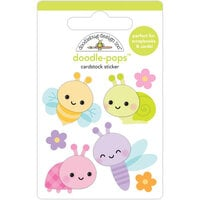 Doodlebug Design - Fairy Garden Collection - Doodle-Pops - 3 Dimensional Stickers - Bug Babies