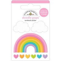 Doodlebug Design - Fairy Garden Collection - Doodle-Pops - 3 Dimensional Stickers - Over The Rainbow