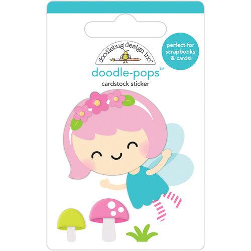 Doodlebug Design - Fairy Garden Collection - Doodle-Pops - 3 Dimensional Stickers - Pixie