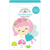 Doodlebug Design - Fairy Garden Collection - Doodle-Pops - 3 Dimensional Stickers - Pixie