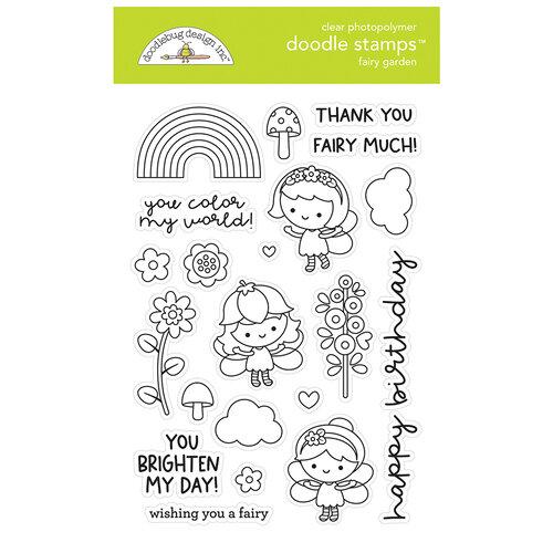 Doodlebug Design - Fairy Garden Collection - Clear Photopolymer Stamps -Fairy Garden