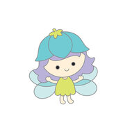 Doodlebug Design - Fairy Garden Collection - Collectible Pins - Blossom