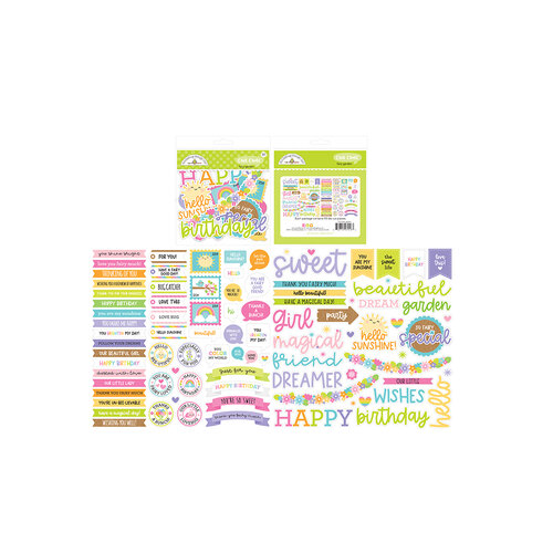 Doodlebug Design - Fairy Garden Collection - Chit Chat - Die Cut Cardstock Pieces