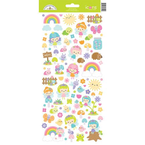 Doodlebug Design - Fairy Garden Collection - Icon Stickers - Fairy Garden