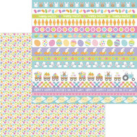 Doodlebug Design - Hippity Hoppity Collection - 12 x 12 Double Sided Paper - Spring Meadow