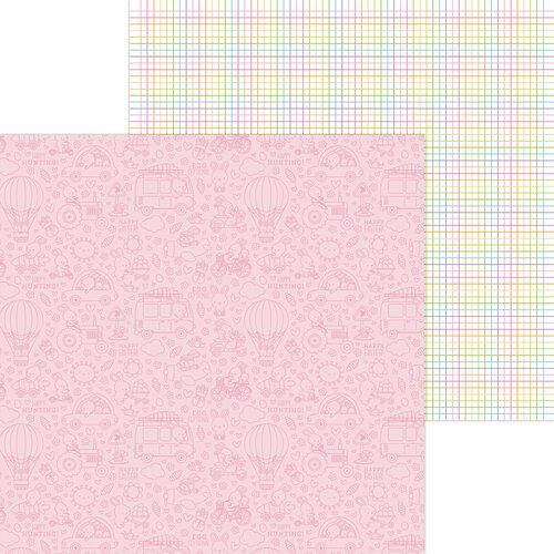 Doodlebug Design - Hippity Hoppity Collection - 12 x 12 Double Sided Paper - Hoppy Day
