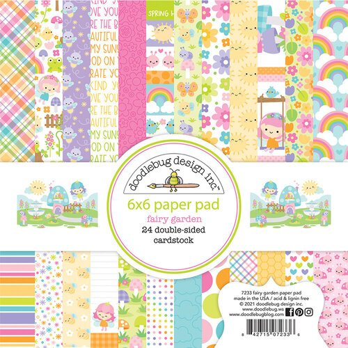 Doodlebug Design - Fairy Garden Collection - 6 x 6 Paper Pad