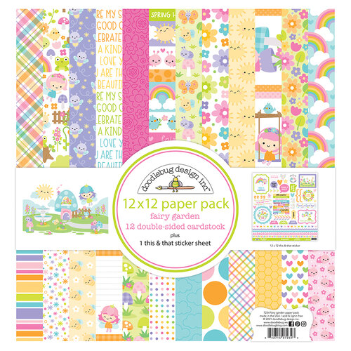 Doodlebug Design - Fairy Garden Collection - 12 x 12 Paper Pack