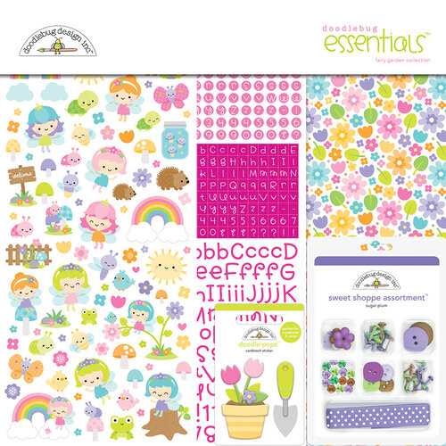Doodlebug Design - Fairy Garden Collection - Essentials Kit