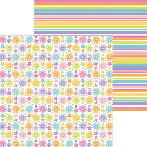 Doodlebug Design - Fairy Garden Collection - 12 x 12 Double Sided Paper - Fairy Floral