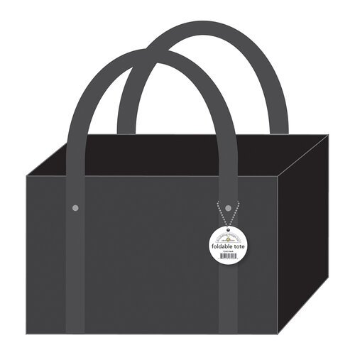 Doodlebug Design - Monochromatic Collection - Black Foldable Tote