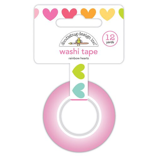 Doodlebug Design - Cute and Crafty Collection - Washi Tape - Rainbow Hearts