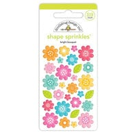 Doodlebug Design - Cute and Crafty Collection - Sprinkles - Bright Bouquet
