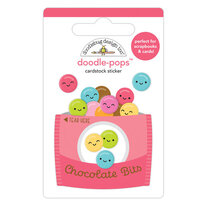 Doodlebug Design - Cute and Crafty Collection - Doodle-Pops - Chocolate Bits