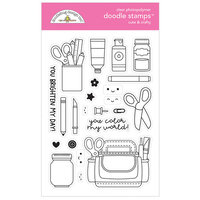 Doodlebug Design - Cute and Crafty Collection - Clear Photopolymer Stamps - Cute and Crafty