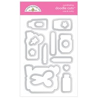 Doodlebug Design - Cute and Crafty Collection - Doodle Cuts - Dies - Cute and Crafty