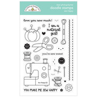 Doodlebug Design - Cute and Crafty Collection - Clear Photopolymer Stamps - Sew Happy