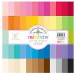 Doodlebug Design - 12 x 12 Textured Cardstock Assortment Pack - Rainbow