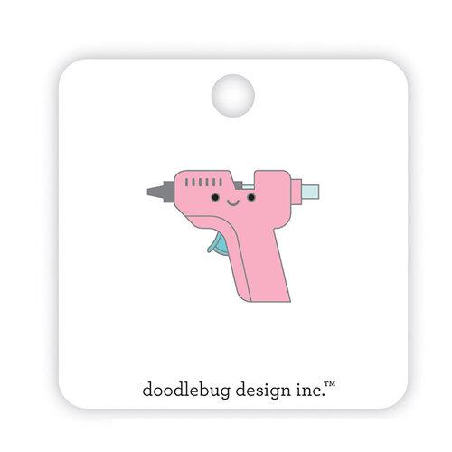 Doodlebug Design - Cute and Crafty Collection - Collectible Pins - Glue Gun