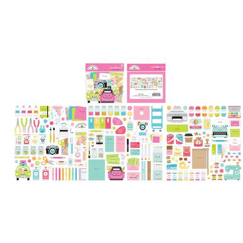 Doodlebug Design - Cute and Crafty Collection - Odds and Ends - Die Cut Cardstock Pieces