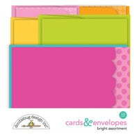 Doodlebug Design - Cute and Crafty Collection - Cards and Envelopes - Spring Assortment