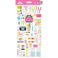 Doodlebug Design - Cute and Crafty Collection - Cardstock Stickers - Icons - Cute and Crafty