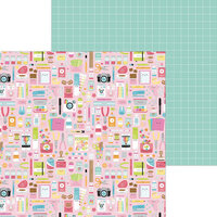 Doodlebug Design - Cute and Crafty Collection - 12 x 12 Double Sided Paper - Cute and Crafty