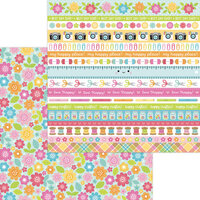 Doodlebug Design - Cute and Crafty Collection - 12 x 12 Double Sided Paper - Painted Posies
