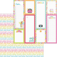 Doodlebug Design - Cute and Crafty Collection - 12 x 12 Double Sided Paper - Happy Thoughts