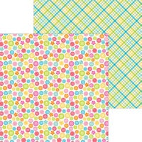 Doodlebug Design - Cute and Crafty Collection - 12 x 12 Double Sided Paper - Cute As A Button