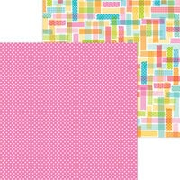 Doodlebug Design - Cute and Crafty Collection - 12 x 12 Double Sided Paper - Pretty In Pink