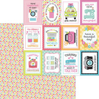 Doodlebug Design - Cute and Crafty Collection - 12 x 12 Double Sided Paper - Precious Posies